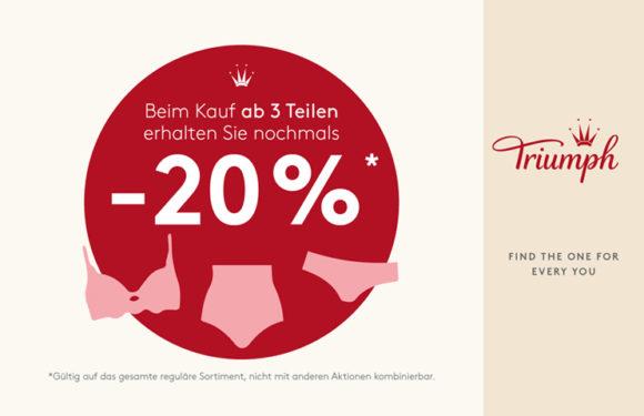 Triumph – Final SALE – ab 3Teile nochmal -20%