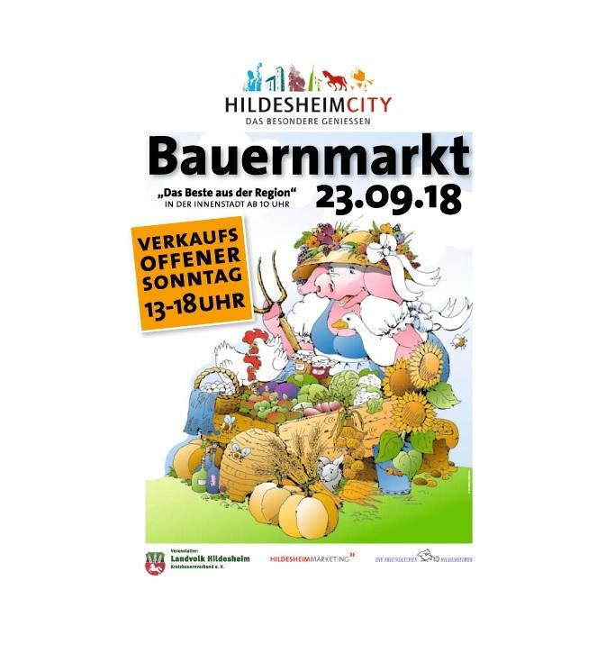 Bauernmarkt mit verkaufsoffenem Sonntag am 23.09.2018